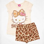 Pijama Infantil Feminino Hello Kitty 87682 Creme