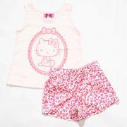 Pijama Infantil Feminino Hello Kitty 87760 Rosa