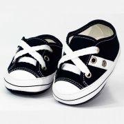 Tênis Infantil Masculino Baby Soffete T16 Marinho com Branco