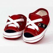 Tênis Infantil Masculino Baby Soffete T16 Vermelho com Marinho