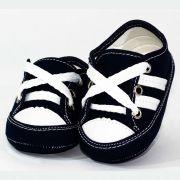 Tênis Infantil Masculino Baby Soffete T45 Marinho com Branco