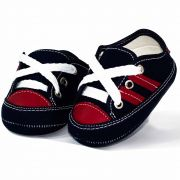 Tênis Infantil Masculino Baby Soffete T45 Marinho com Vermelho