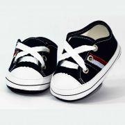 Tênis Infantil Masculino Baby Soffete TM50 Marinho com Listras