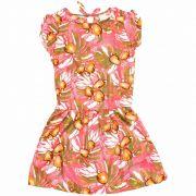Vestido Caju Infantil Feminina Quimby Pink