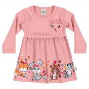 Vestido em Matelassê Infantil Elian - Ref 21861 - Rosa