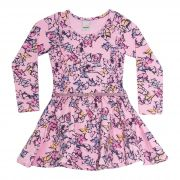 Vestido  Feminino  2 peças - Ref 34200 - Rosa - Ralakids