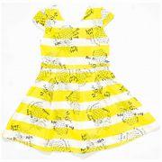 Vestido Infantil Feminina Quimby Abacaxi Amarelo