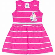 Kit 2 Vestidos Infantil Feminino Listras 4808