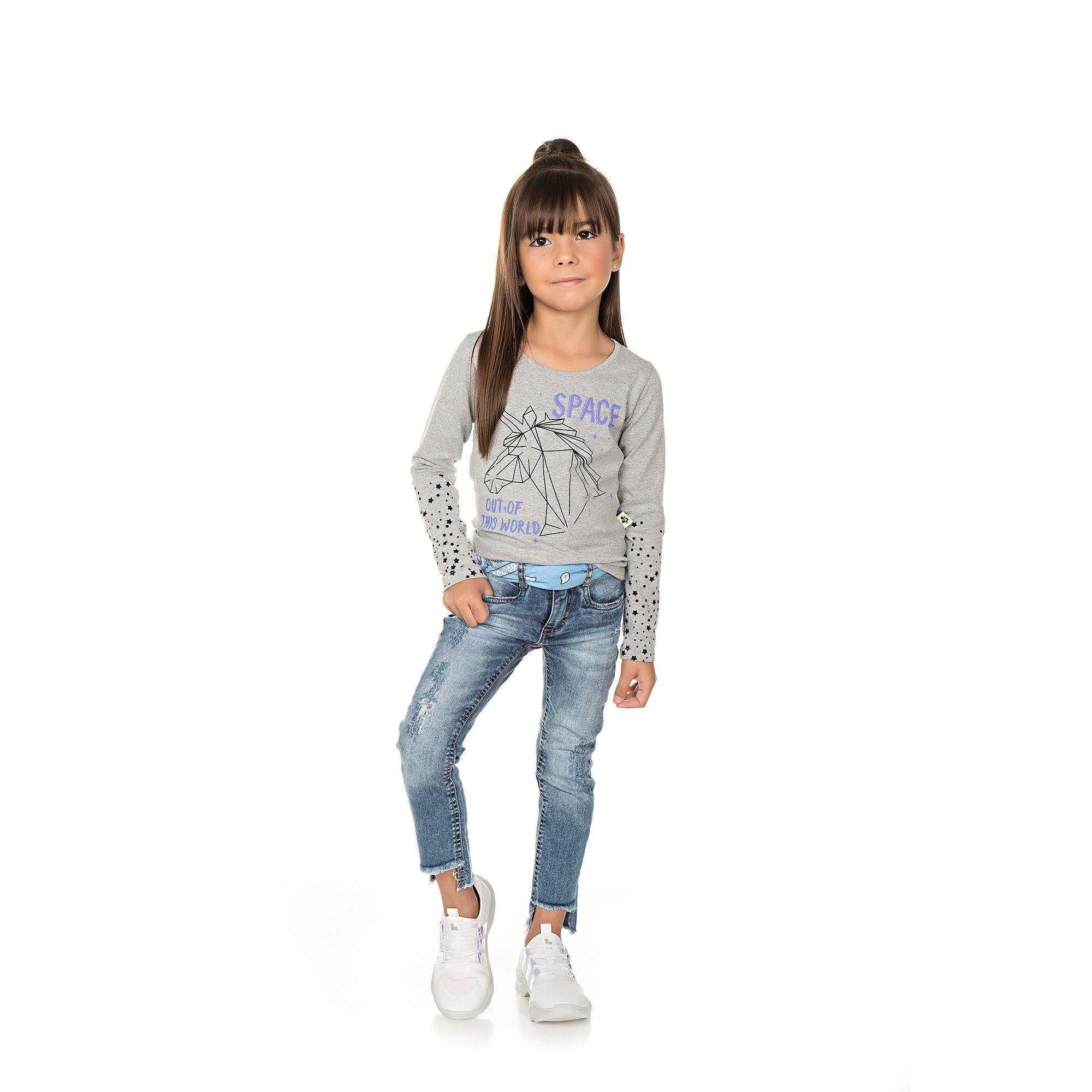 Blusa Infantil Feminina - Ref 5005 - Mescla