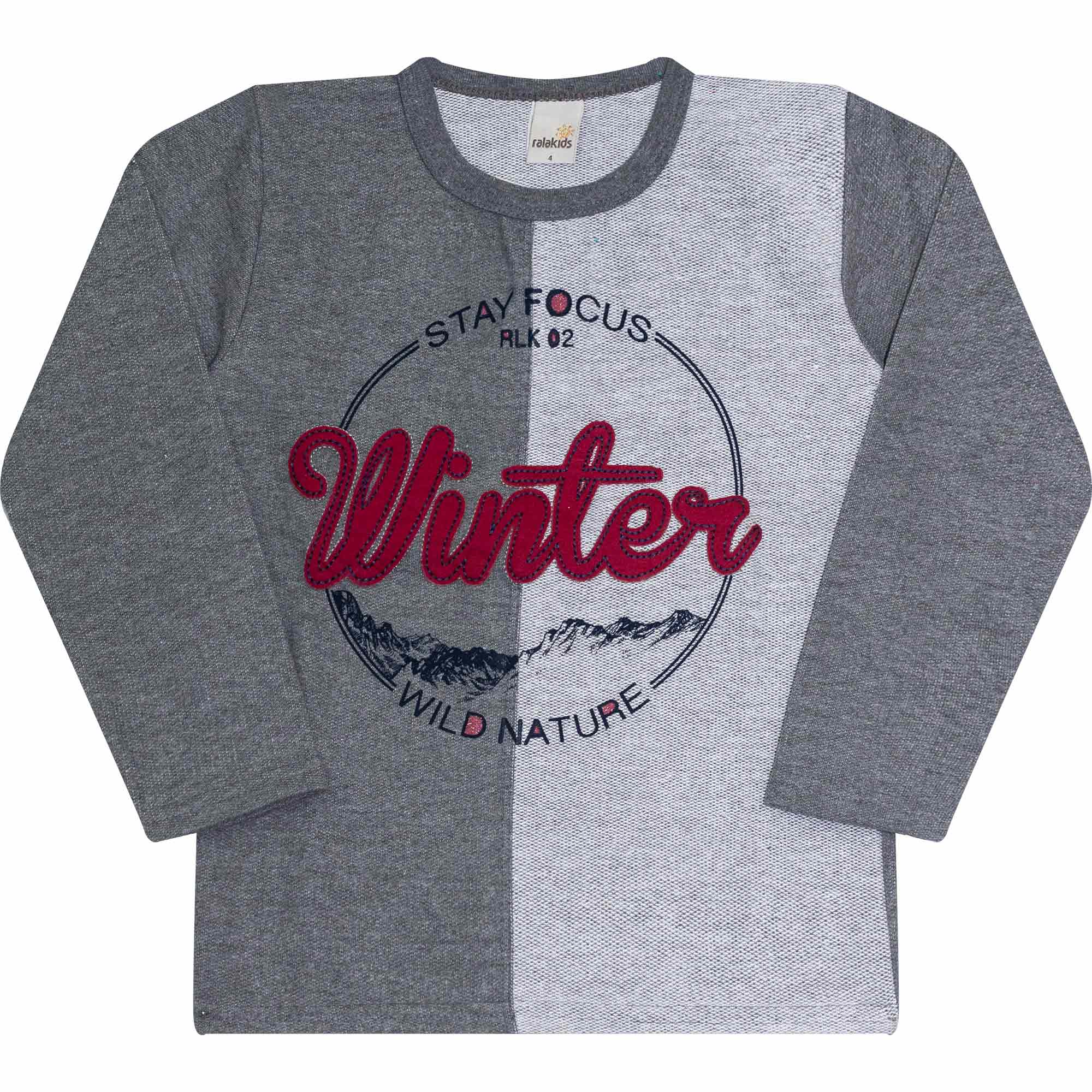 Blusão Infantil Masculino - Ref 42130 - Mescla Escuro - Ralakids