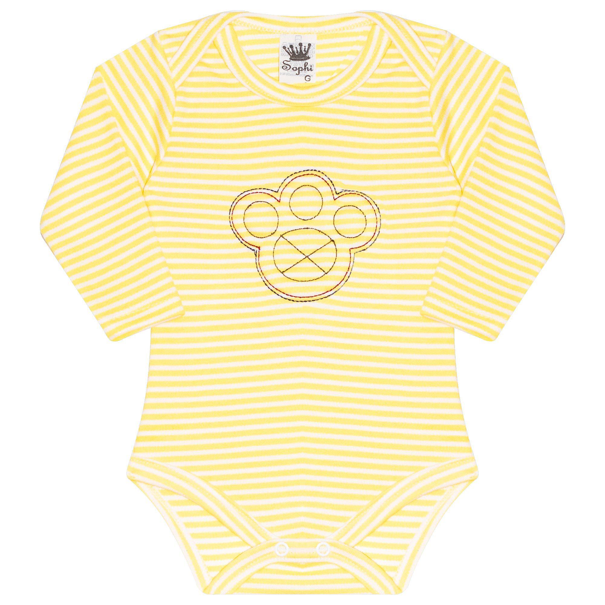 Body para Bebê Bordado Patinha - Amarelo - Sophy