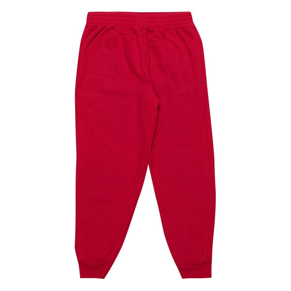 Calça de Moletom Feminina Infantil  1 peças - Ref 1954 - Vermelho