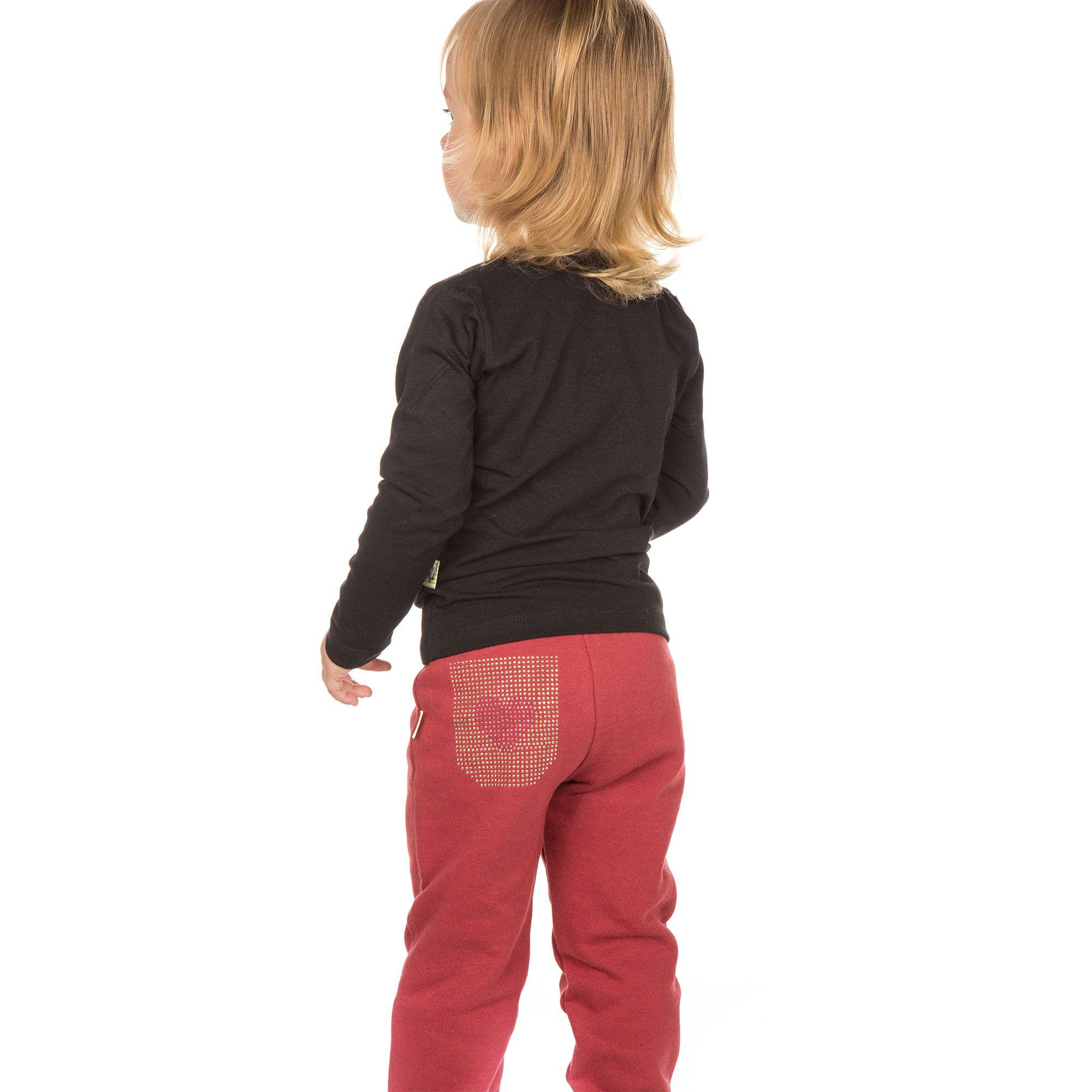 Calça de Moletom Infantil - Ref 4965 - Ameixa
