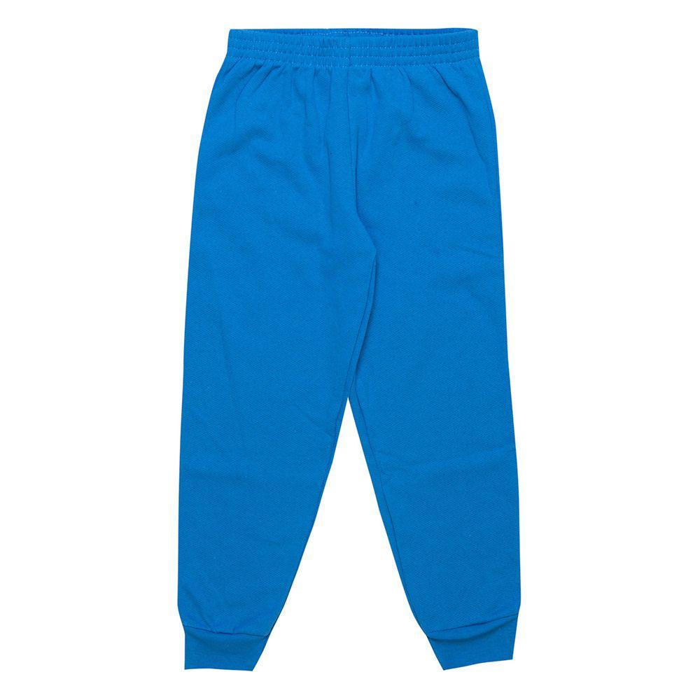 Calça de Moletom Masculina Infantil  2 peças - Ref 1969 - Azul