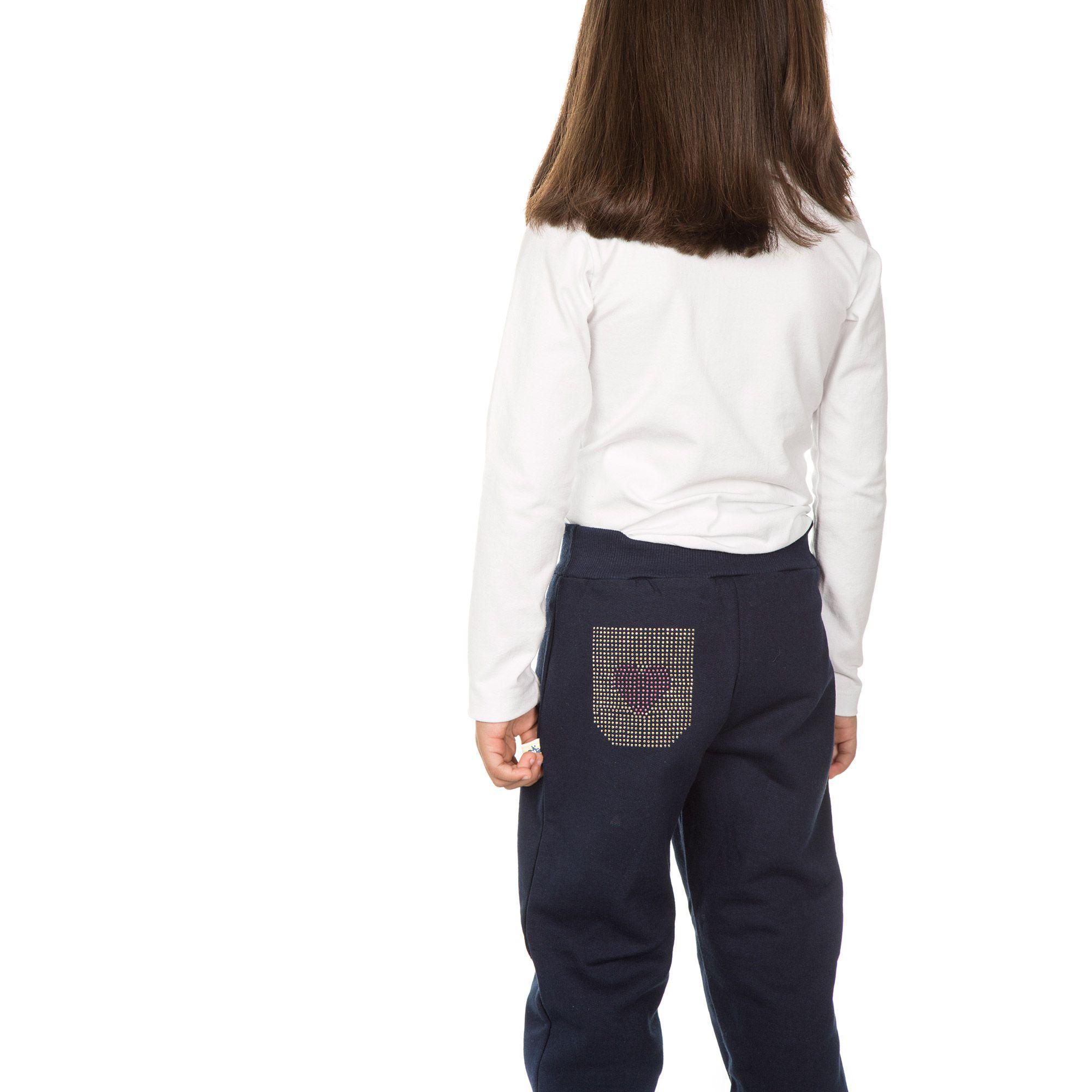 Calça em Moletom Infantil Feminina - Ref 5007 - Marinho