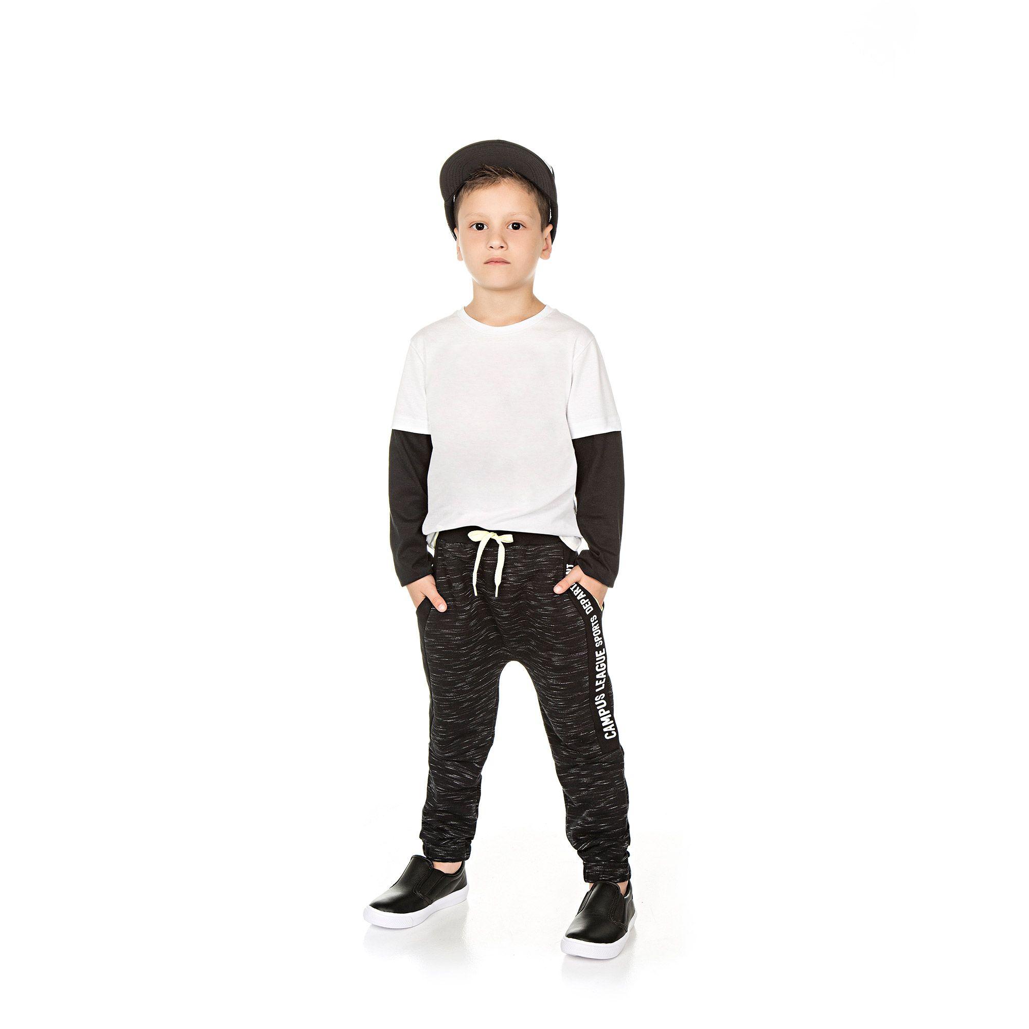 Calça Infantil Masculino  - Ref 5028 - Preto