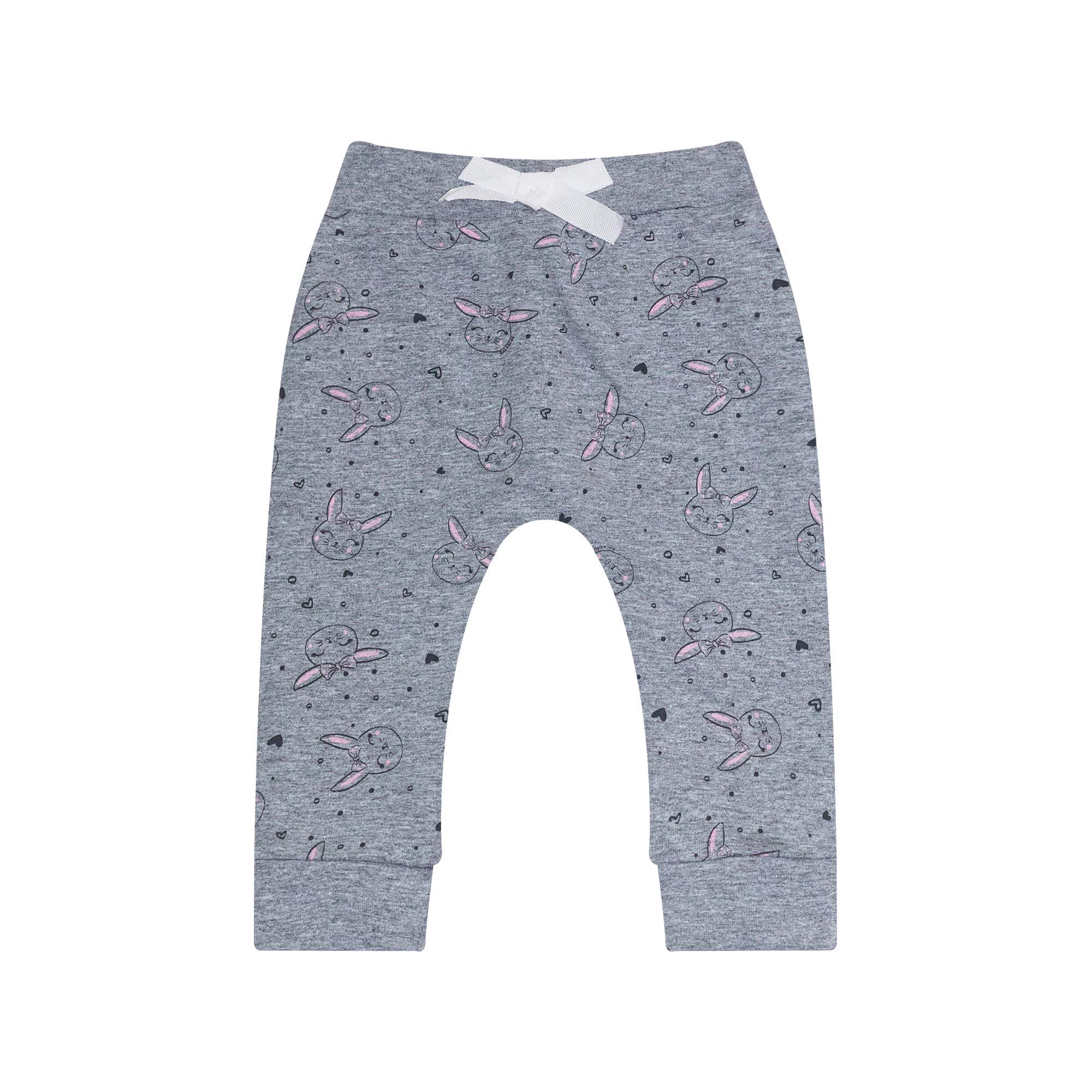 Calça Jogger Infantil Feminino - Ref 7115 - Mescla - Ralakids