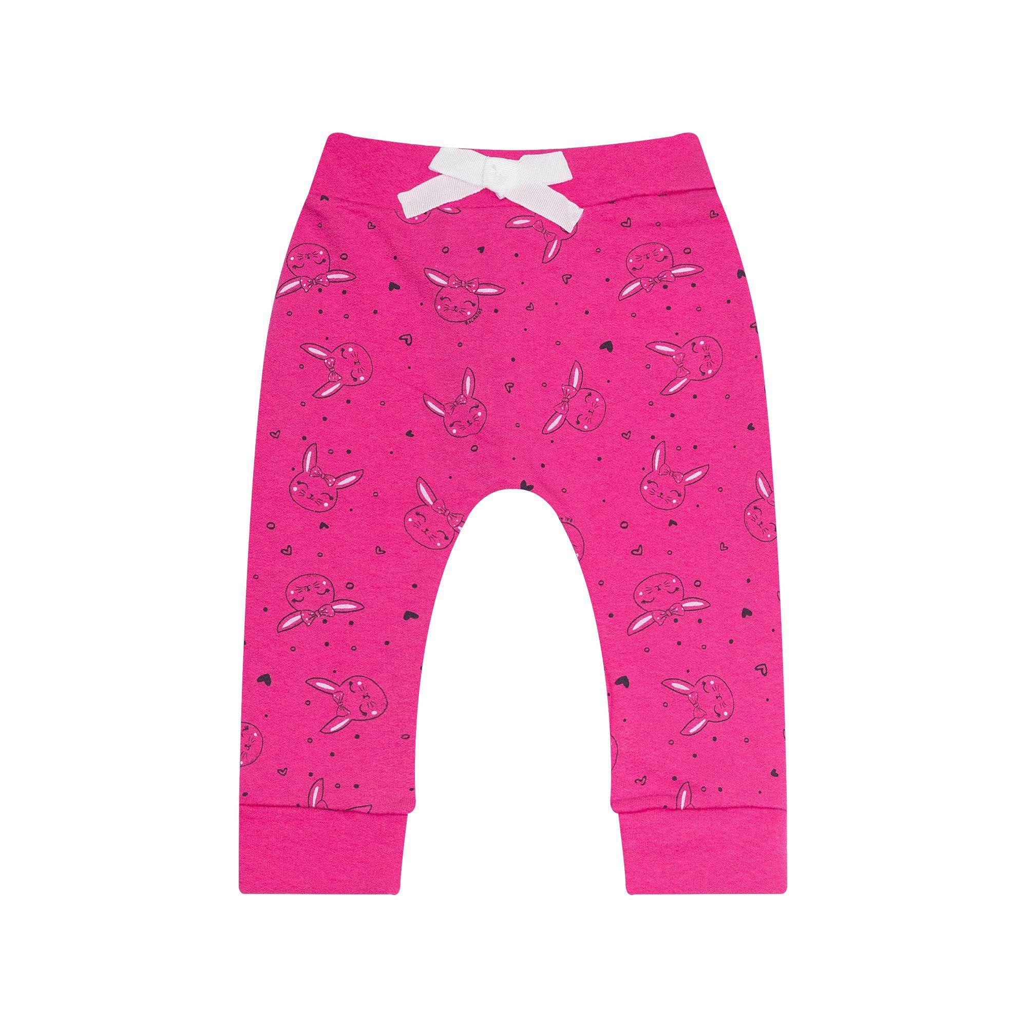 Calça Jogger Infantil Feminino - Ref 7115 - Pink - Ralakids