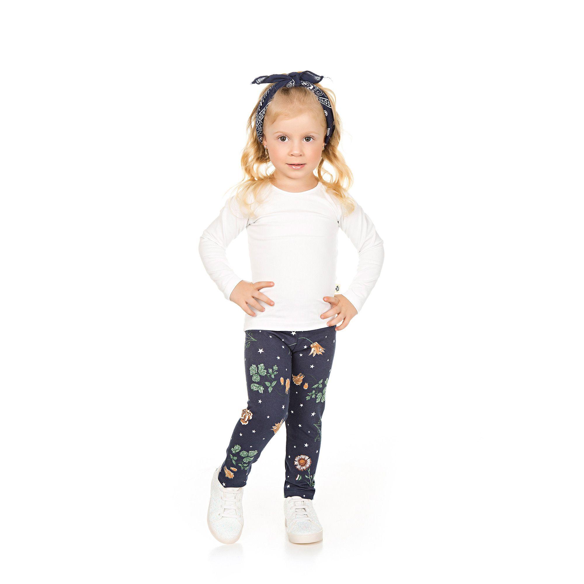 Calça Legging Infantil em Molecotton - Ref 4968 - E22