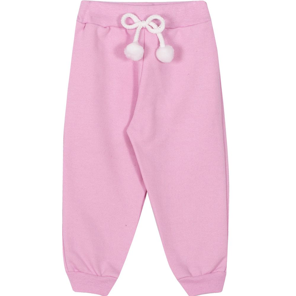 Calça Moletom Infantil Feminino Pimentinha Kids Rosa