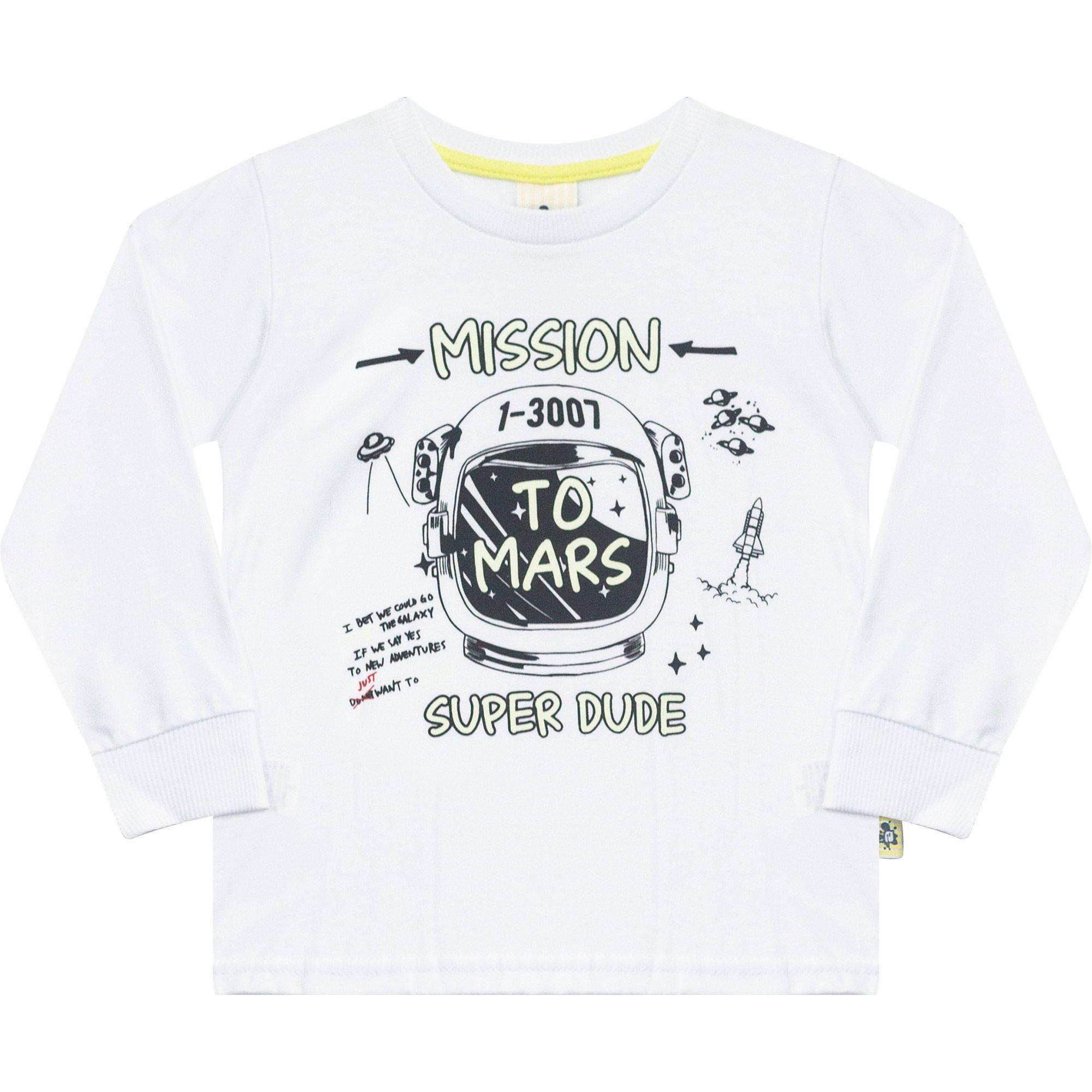 Camiseta Infantil em Malha  - Ref 4984 - Branco