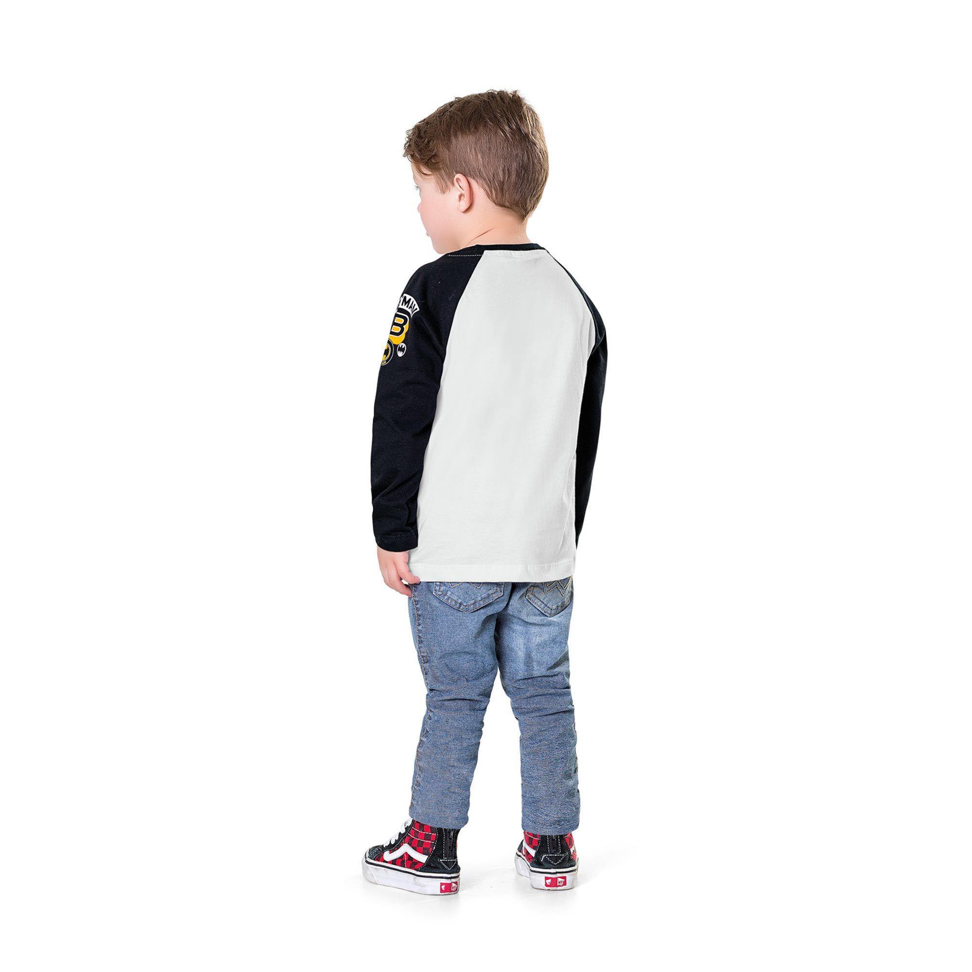 Camiseta Infantil Fakini - Batman Branco
