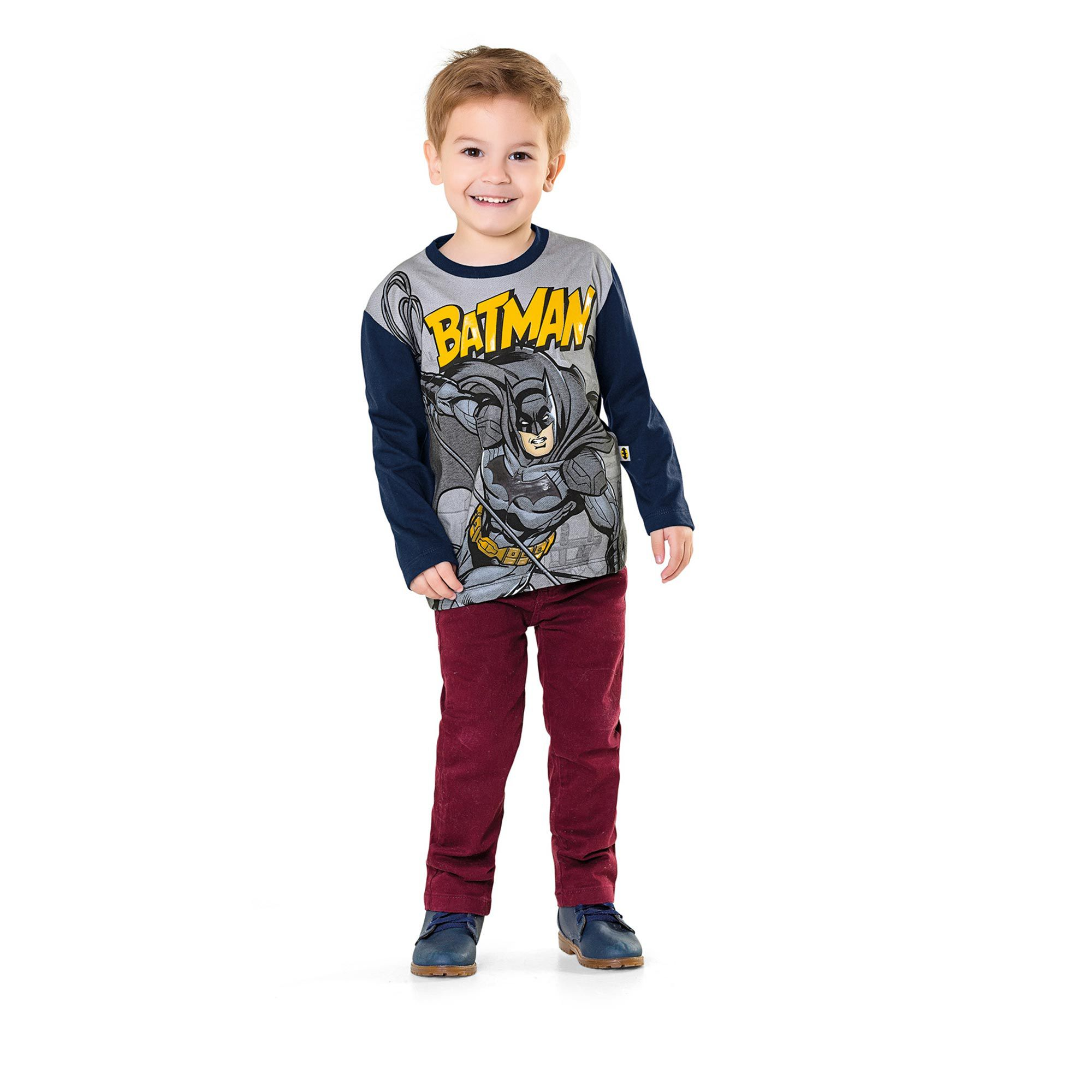 Camiseta Infantil Fakini - Batman Marinho