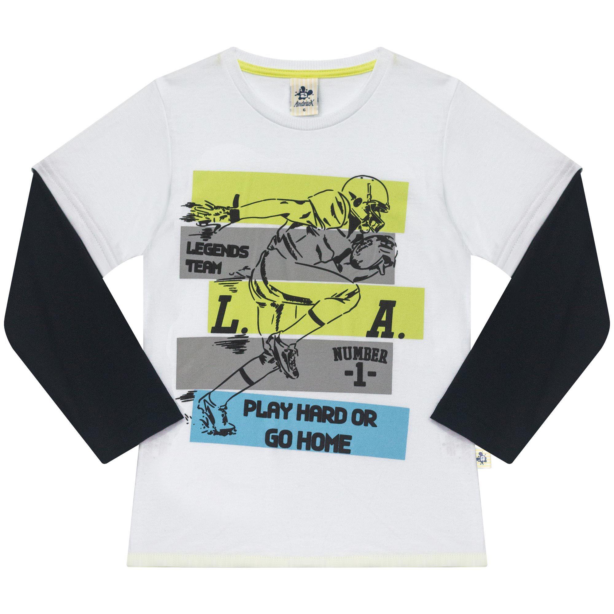 Camiseta Infantil Masculino  - Ref 5031 - Branco