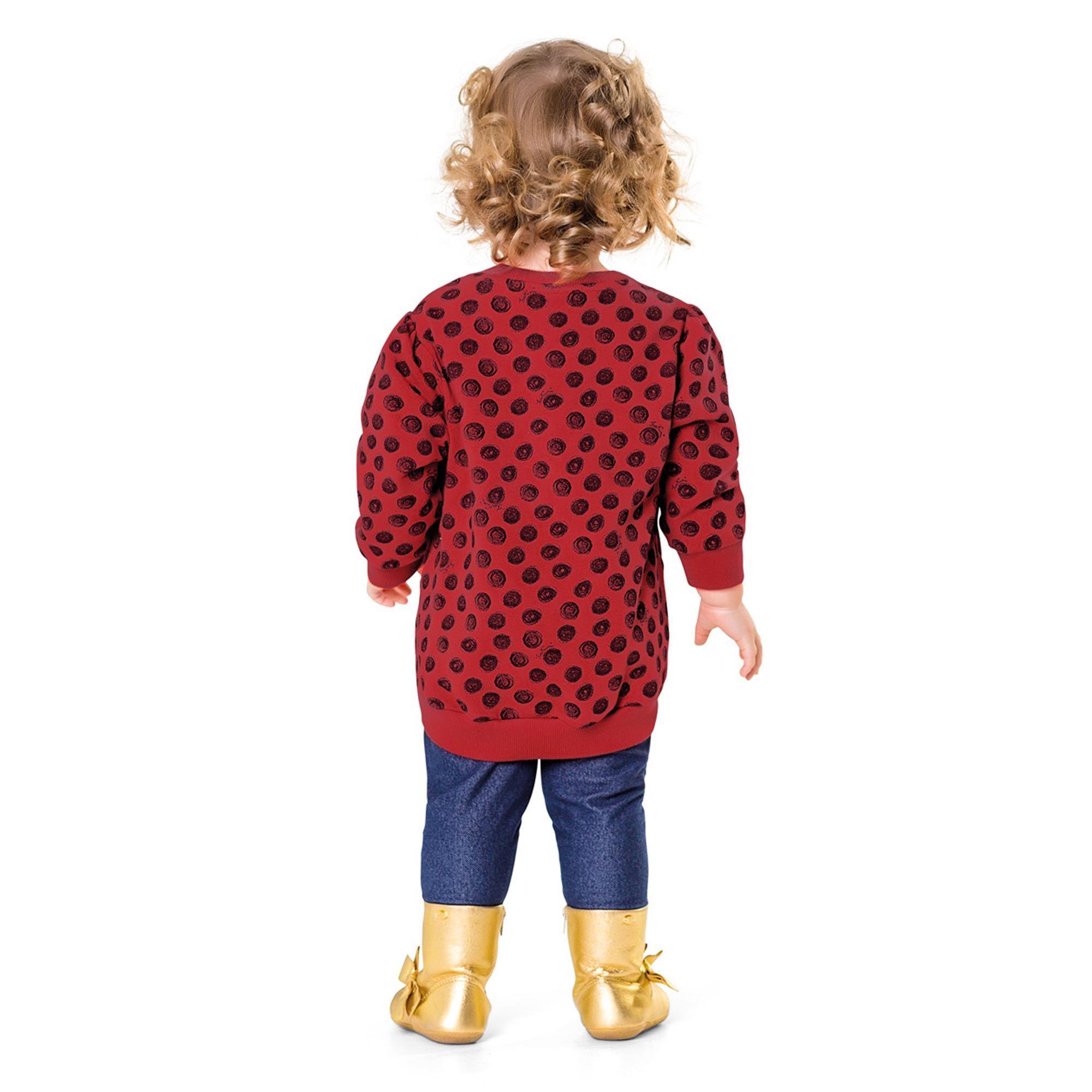 Casaco Infantil Fakini - Poa Vermelho