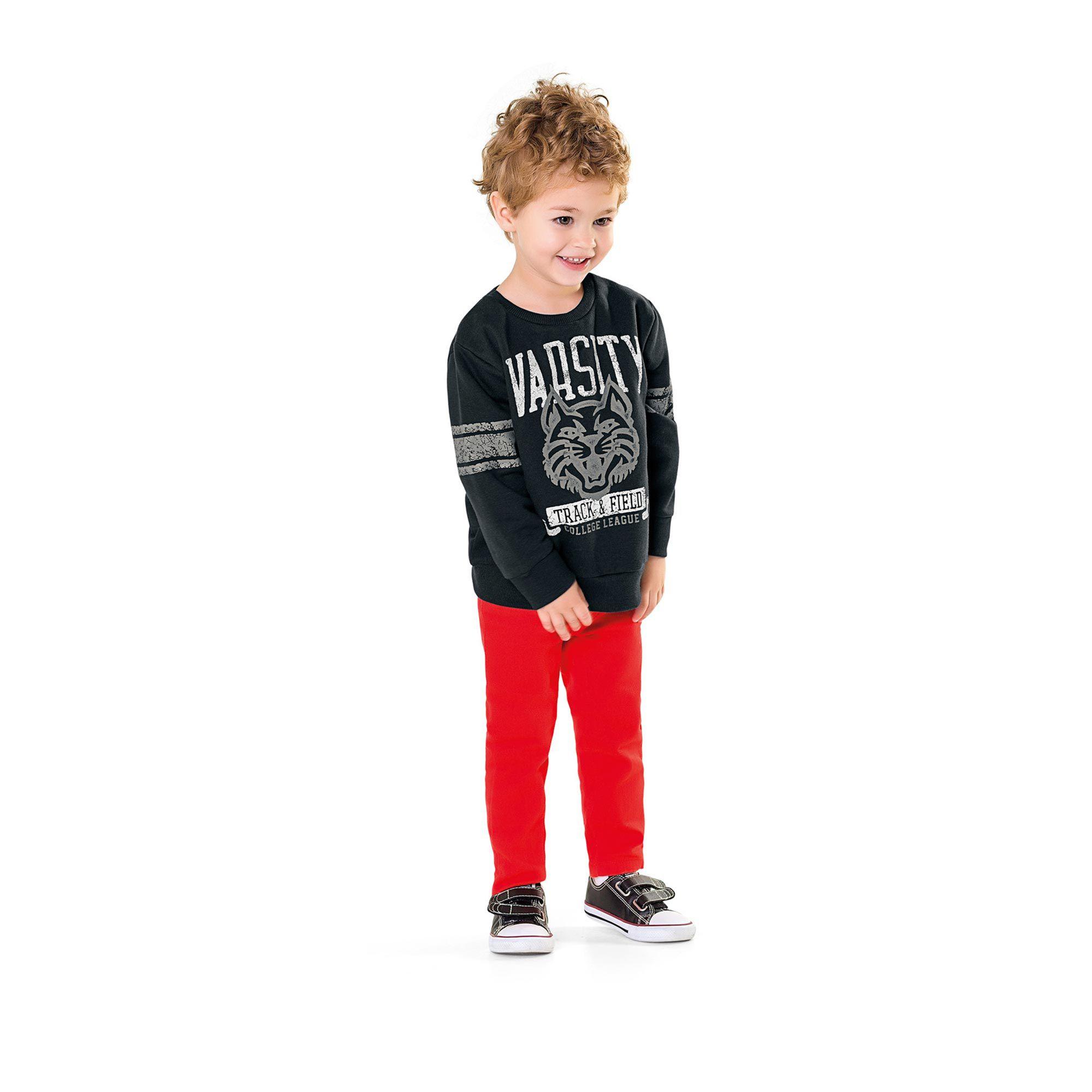 Casaco Infantil Fakini - Varsity Asfalto