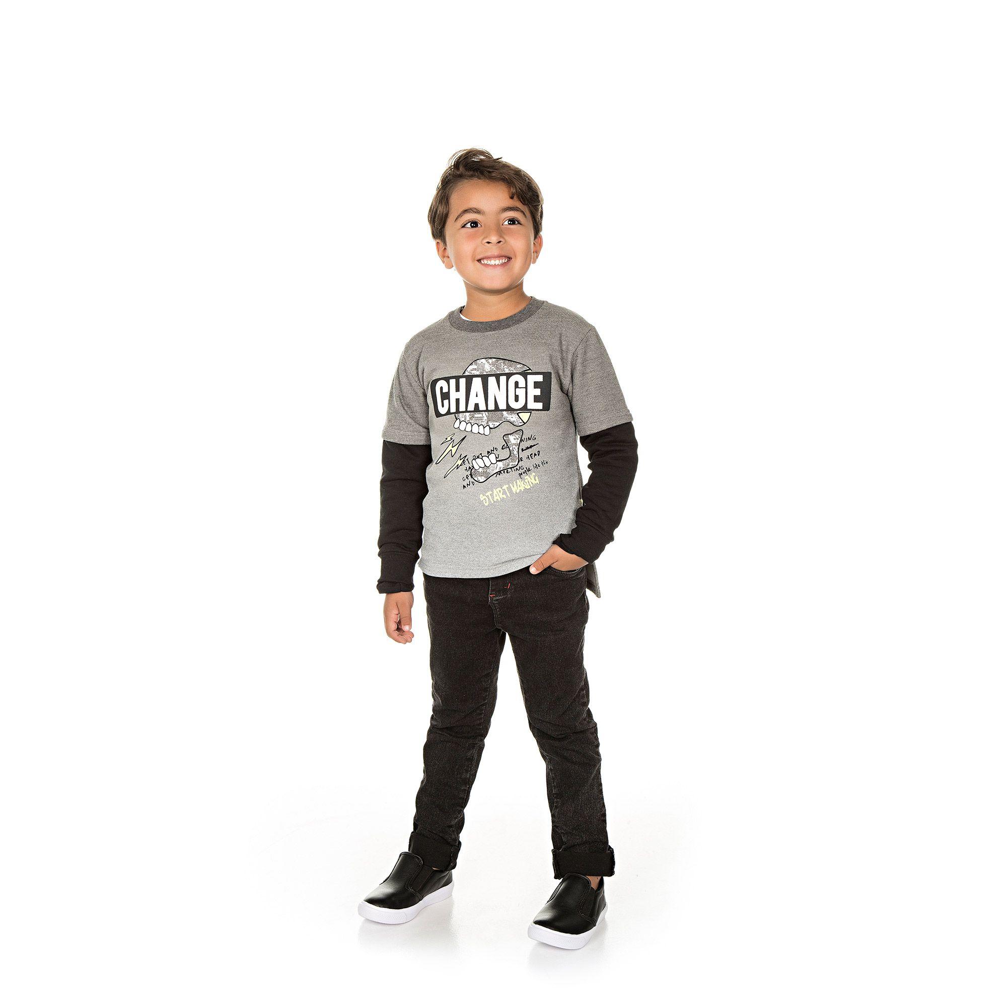 Casaco Infantil Masculino  - Ref 5027 - Mescla