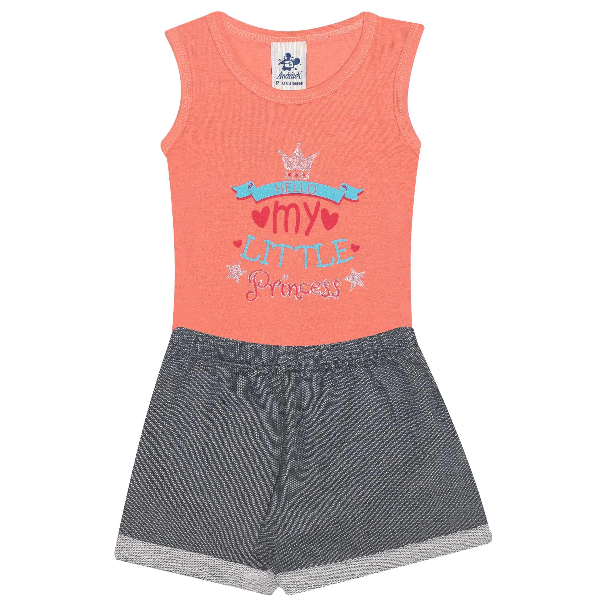 Conjunto Body Infantil Feminino My Little - Ref 4687 - Rosa- Andritex