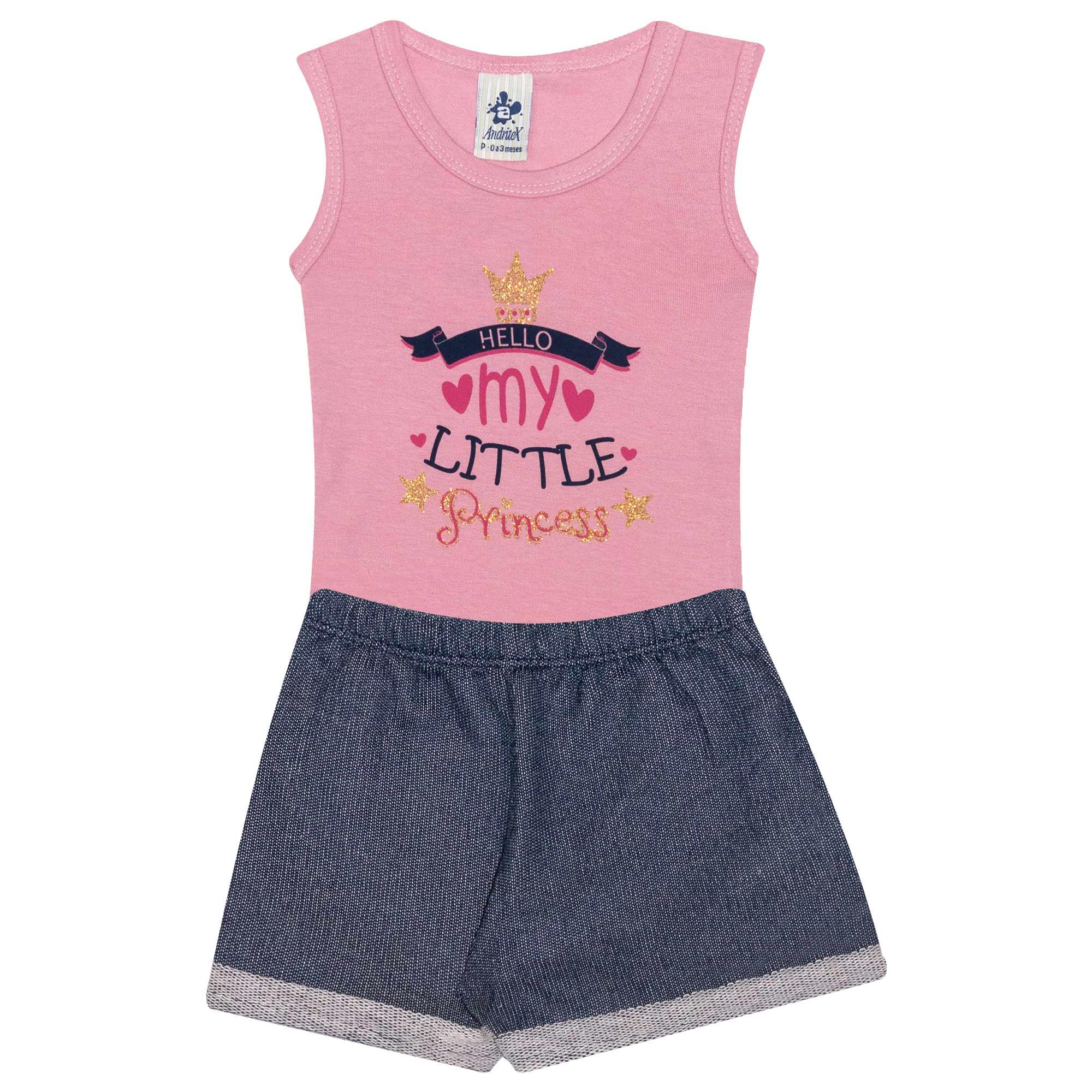 Conjunto Body Infantil Feminino My Little - Ref 4687 - Salmão - Andritex