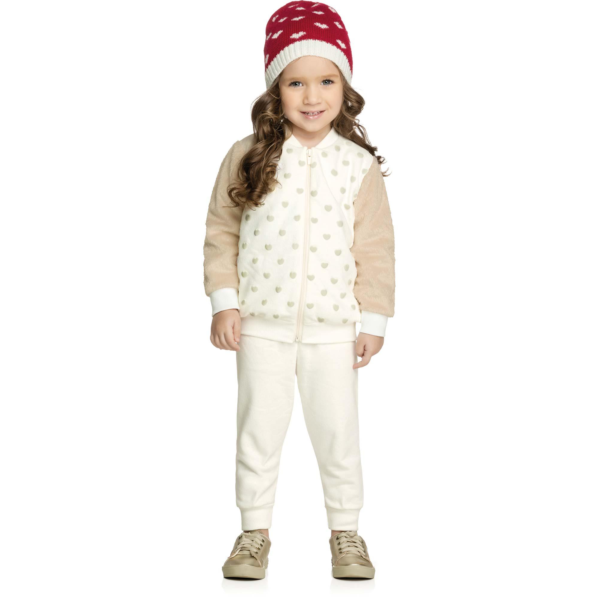 Conjunto Feminino Infantil Elian - Ref 231190 - Natural