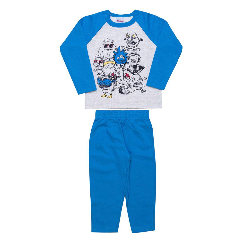 Conjunto Infantil  2 peças - Ref 1956 - Mescla/Azul