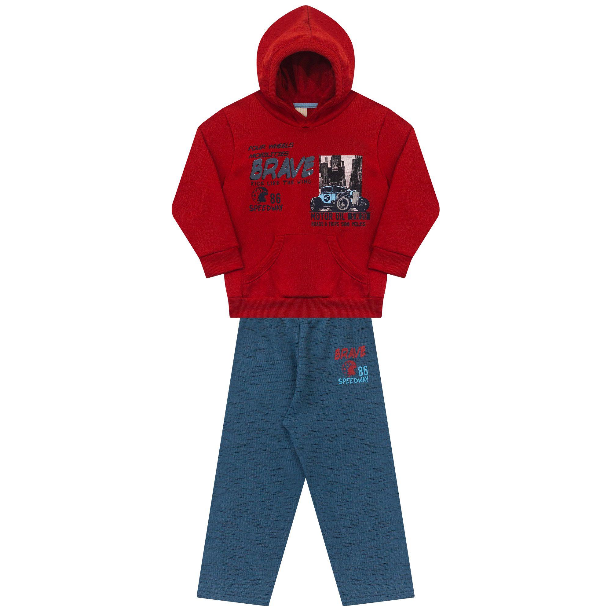Conjunto Infantil   2 peças - Ref 4975 - Vermelho/Diadema
