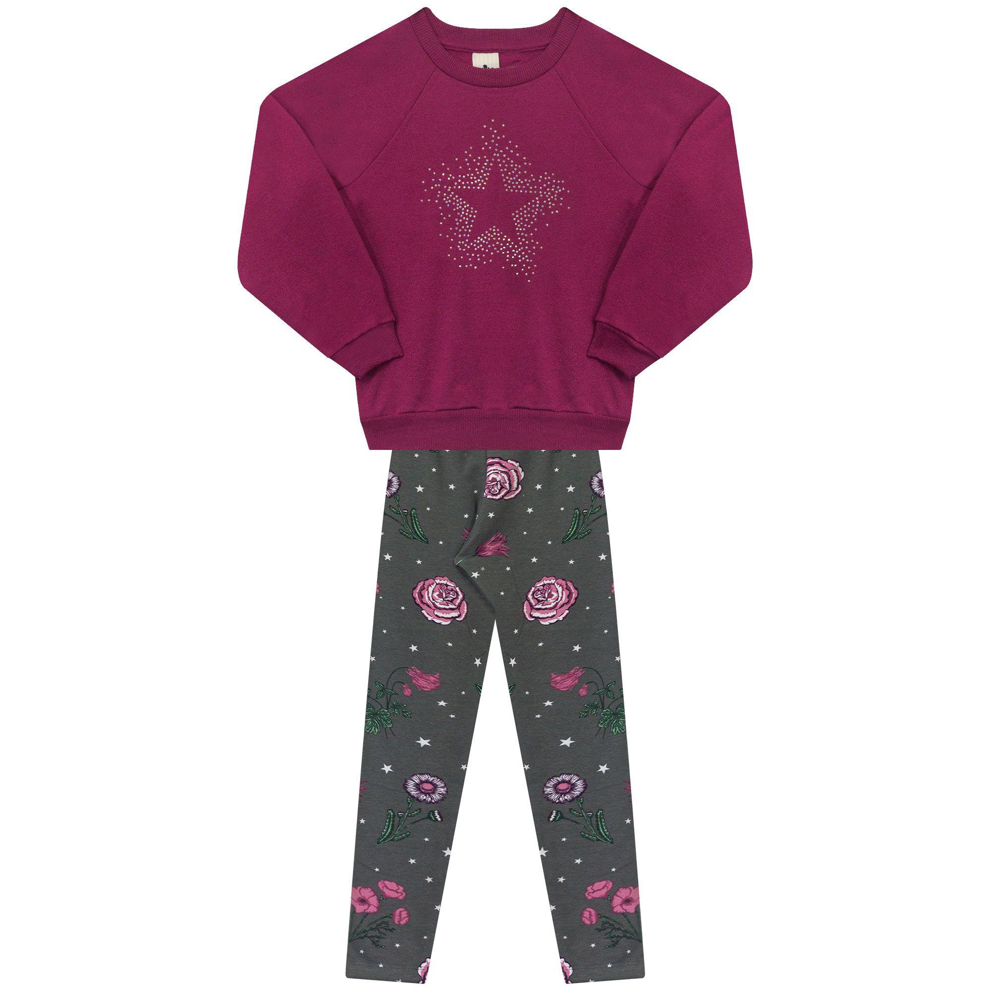 Conjunto Infantil Casaco e Legging em Molecotton - Ref 4990 - Audácia/E20