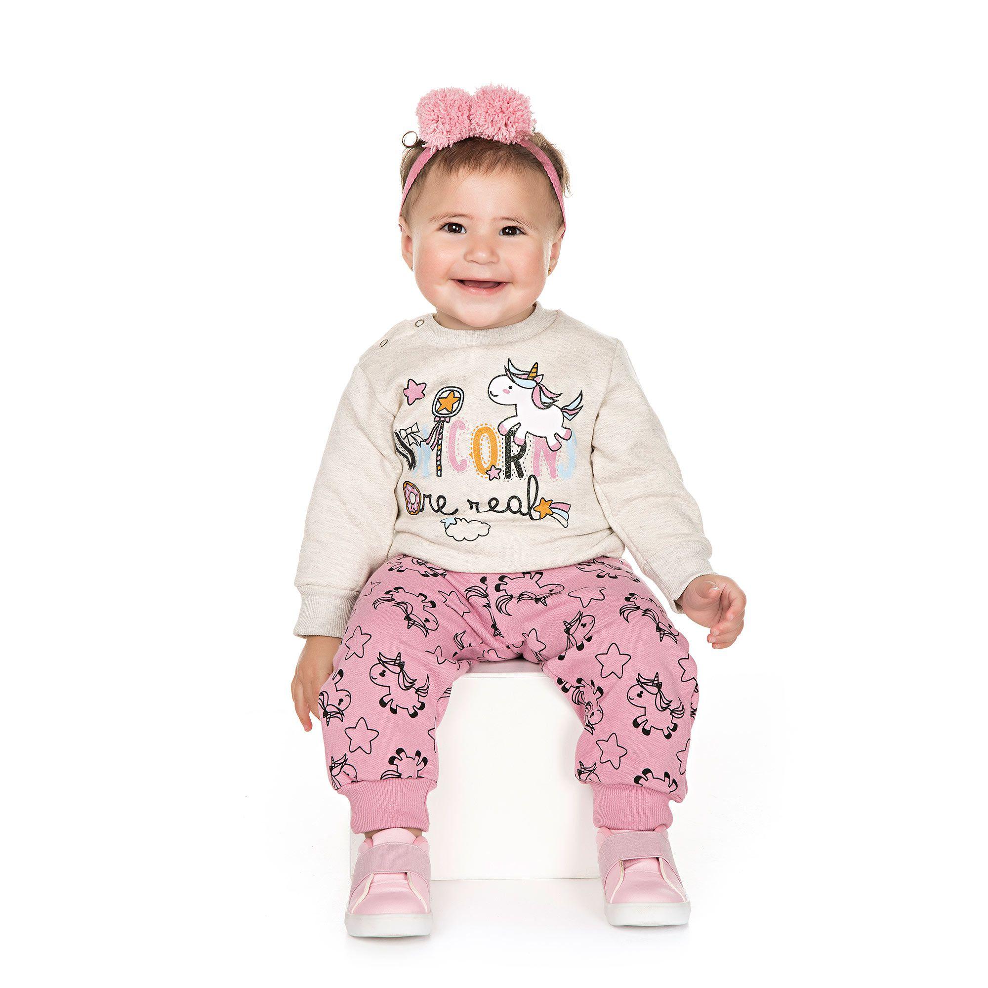 Conjunto Infantil de Moletom para Bebê 2 peças - Ref 4930