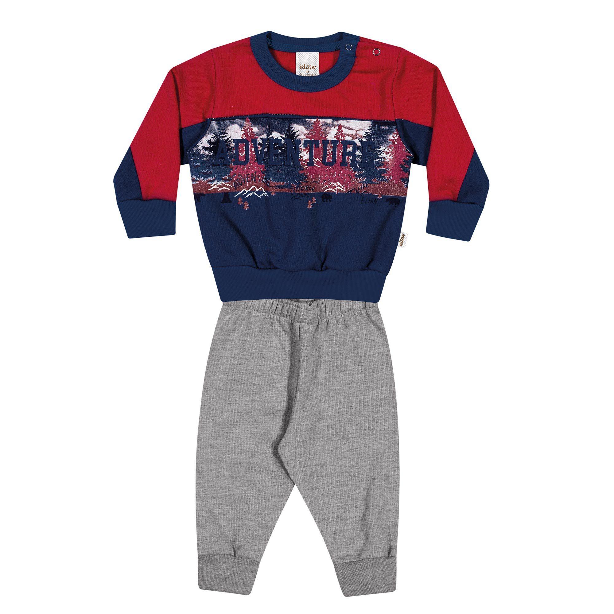 Conjunto Infantil Elian com Blusão e Calça em Moletom - Ref 20748