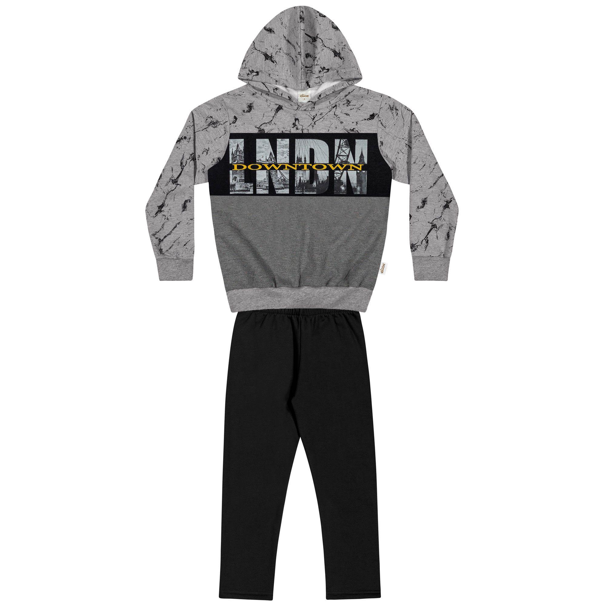 Conjunto Infantil Elian com Blusão e Calça - Ref 24891 - Mescla