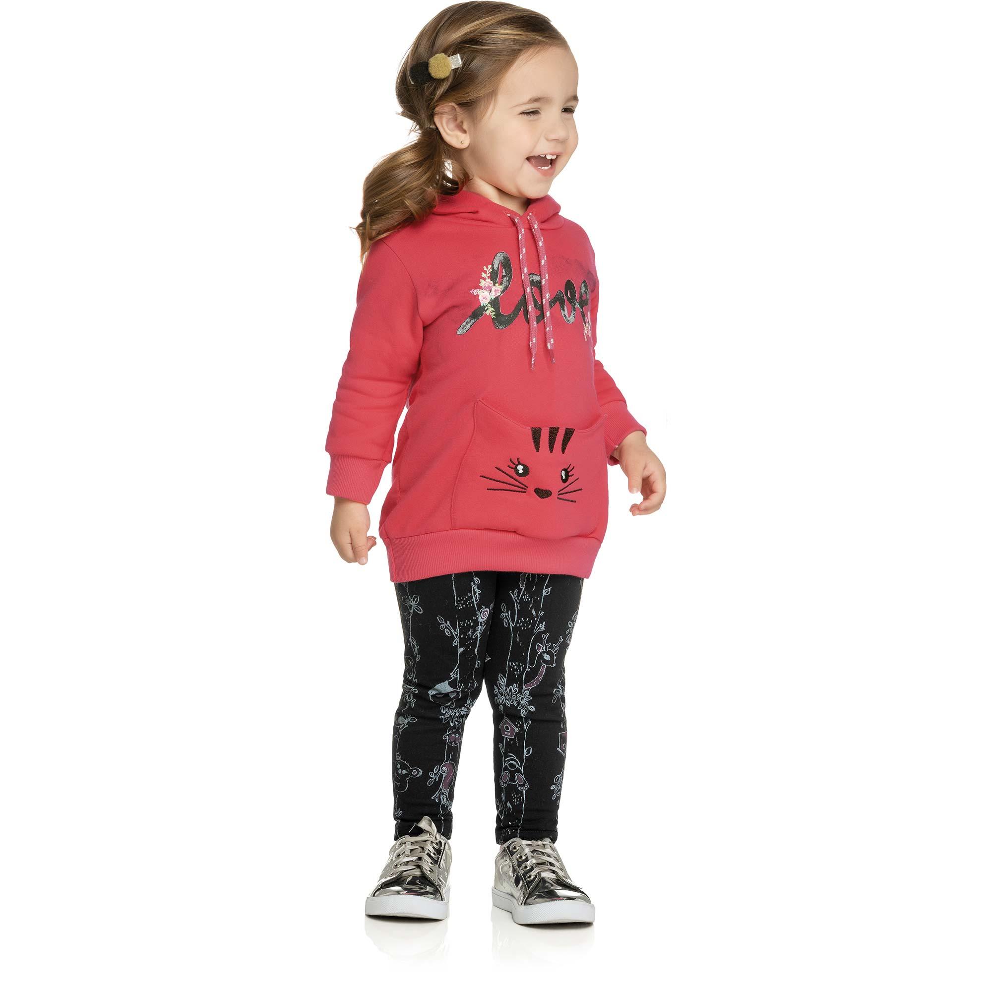 Conjunto Infantil Elian com Blusão e Legging - Ref 231158 - Goiaba