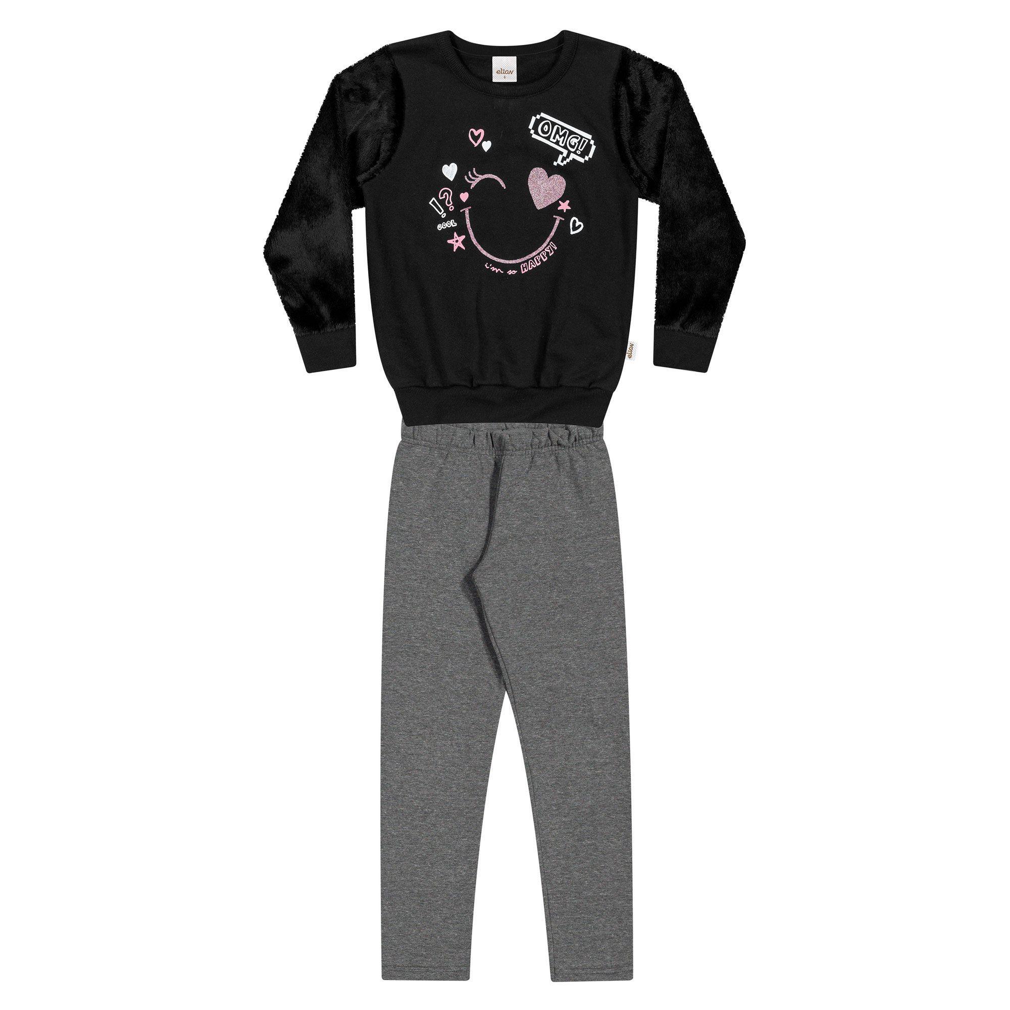 Conjunto Infantil Elian com Blusão e Legging - Ref 251187
