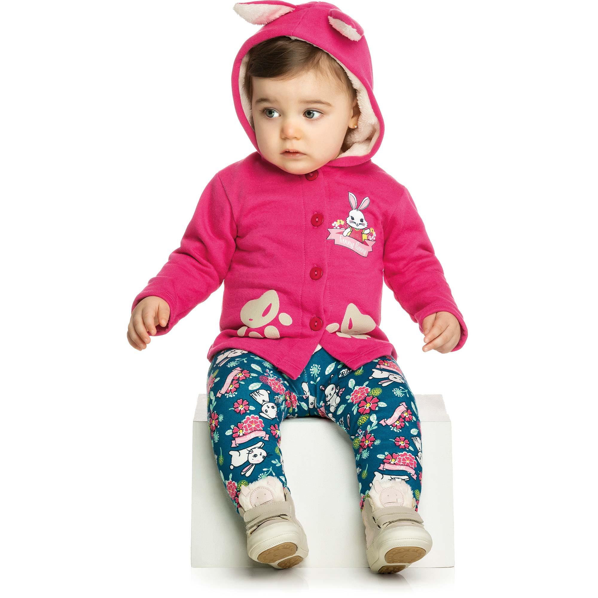 Conjunto Infantil Elian com Casaco e Legging - Ref 21863 - Pink
