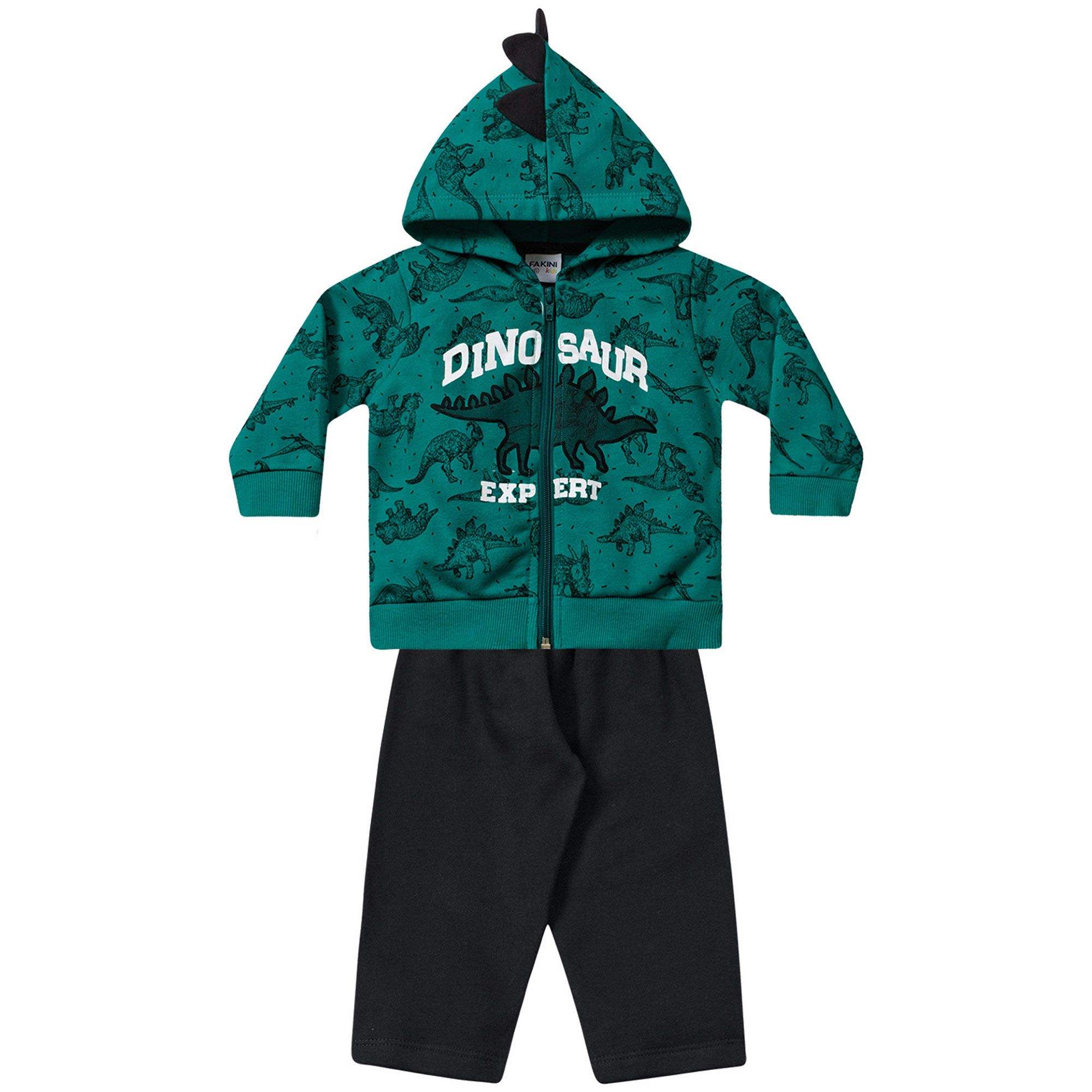 Conjunto Infantil Fakini - Dinos Verde