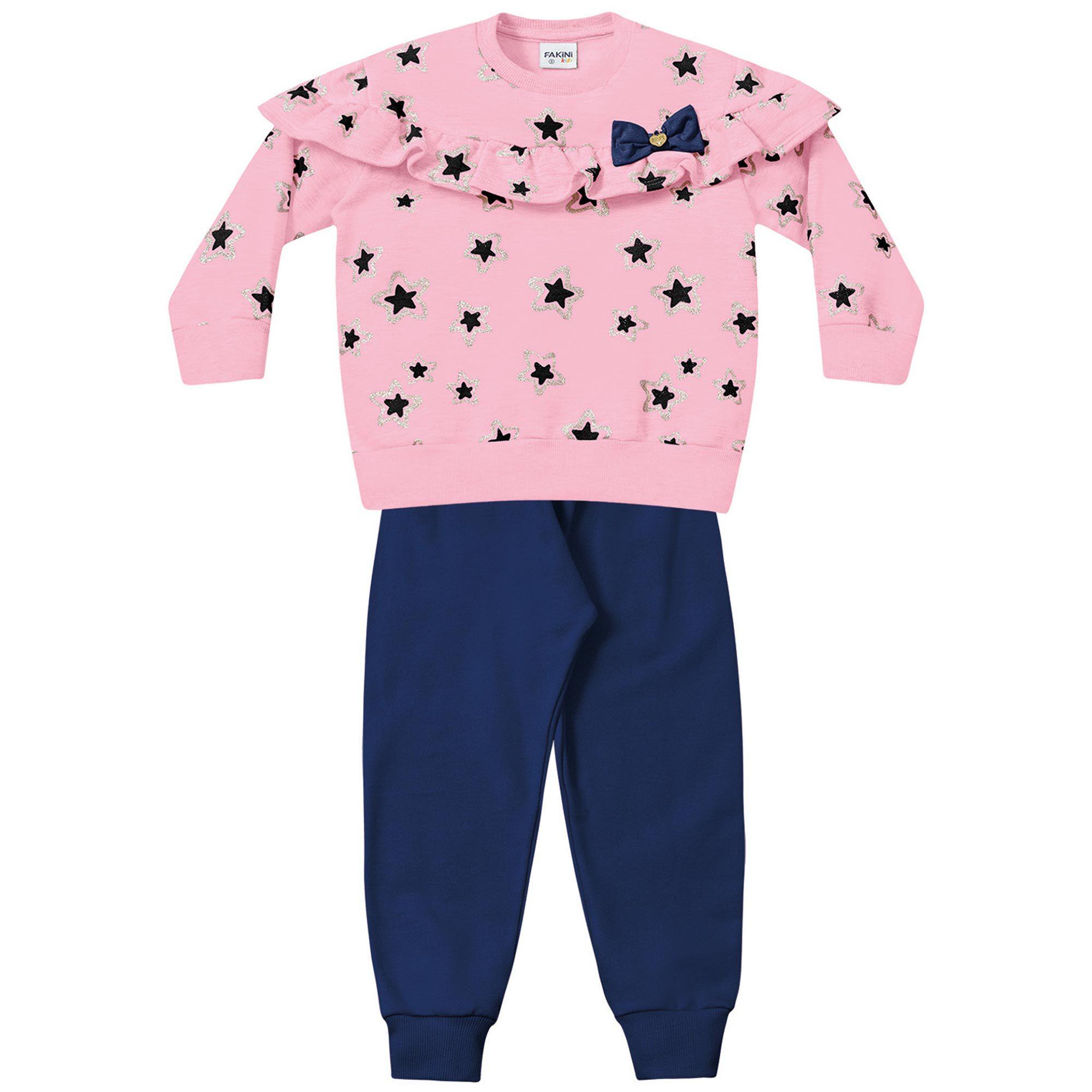 Conjunto Infantil Fakini - Estrela Rosa