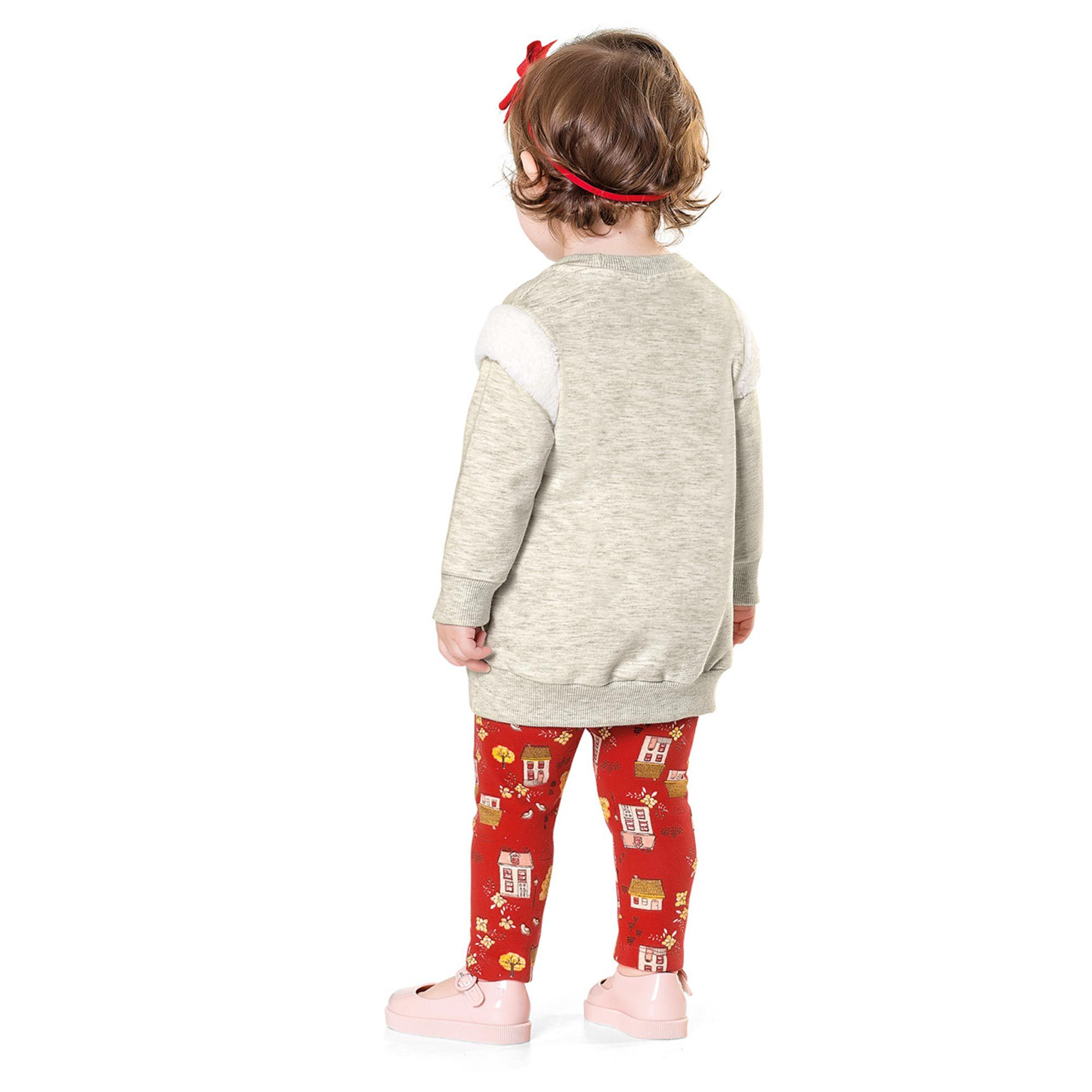 Conjunto Infantil Fakini - Mescla/Vermelho - House