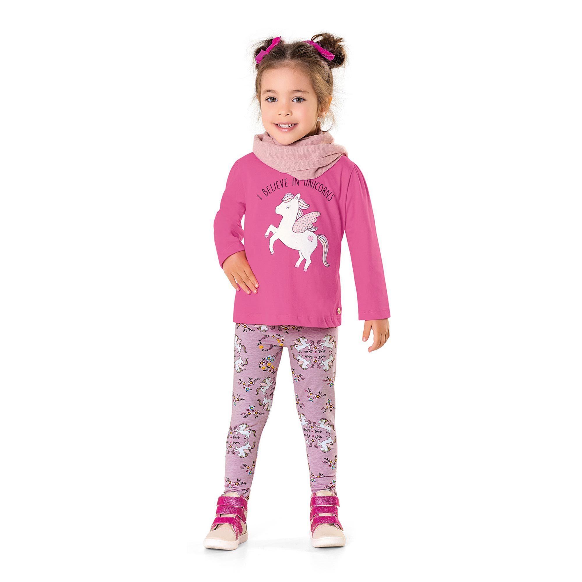 Conjunto Infantil Fakini - Unicórnio Rosa