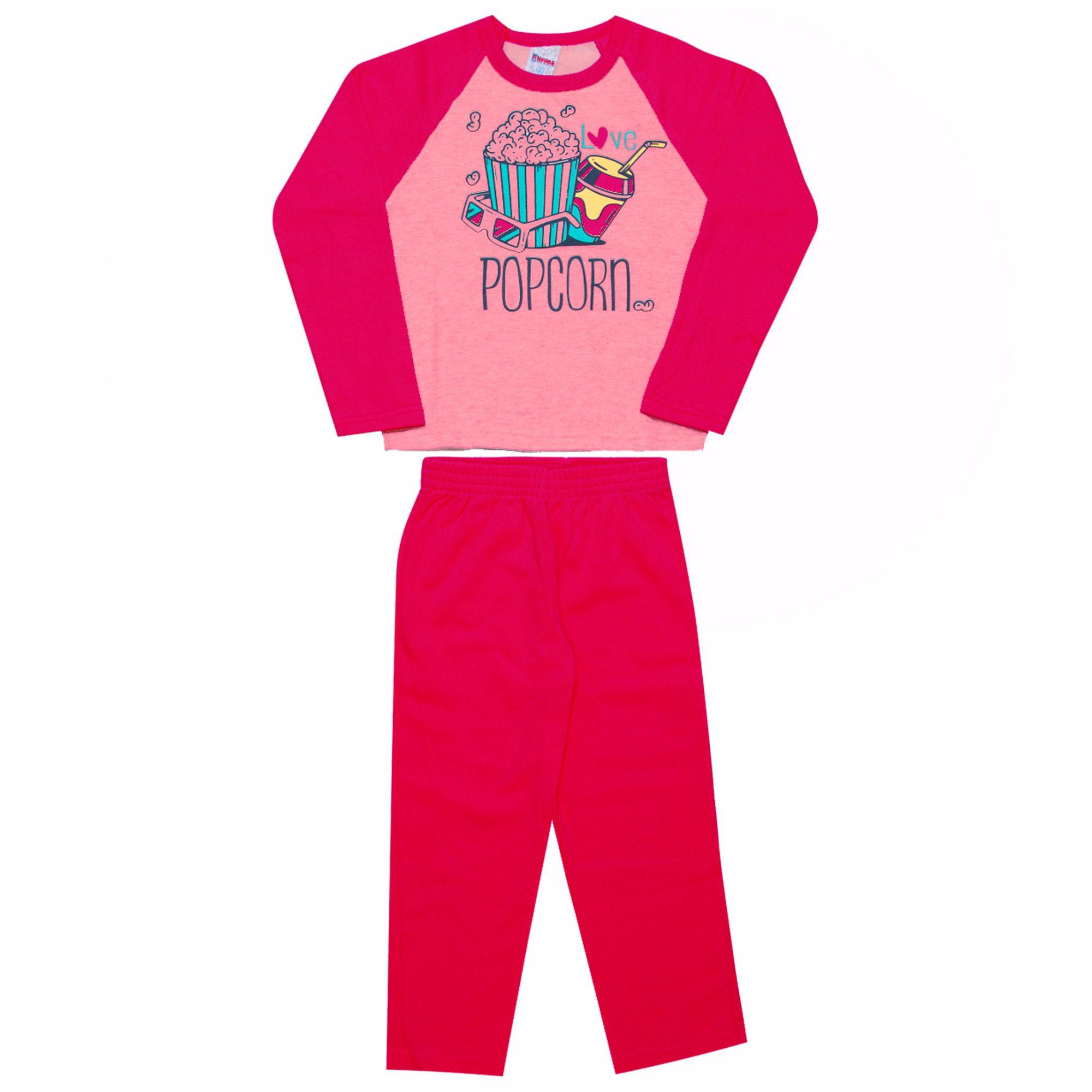 Conjunto Infantil Feminino  2 peças - Ref 1948 - Rosa/Pink