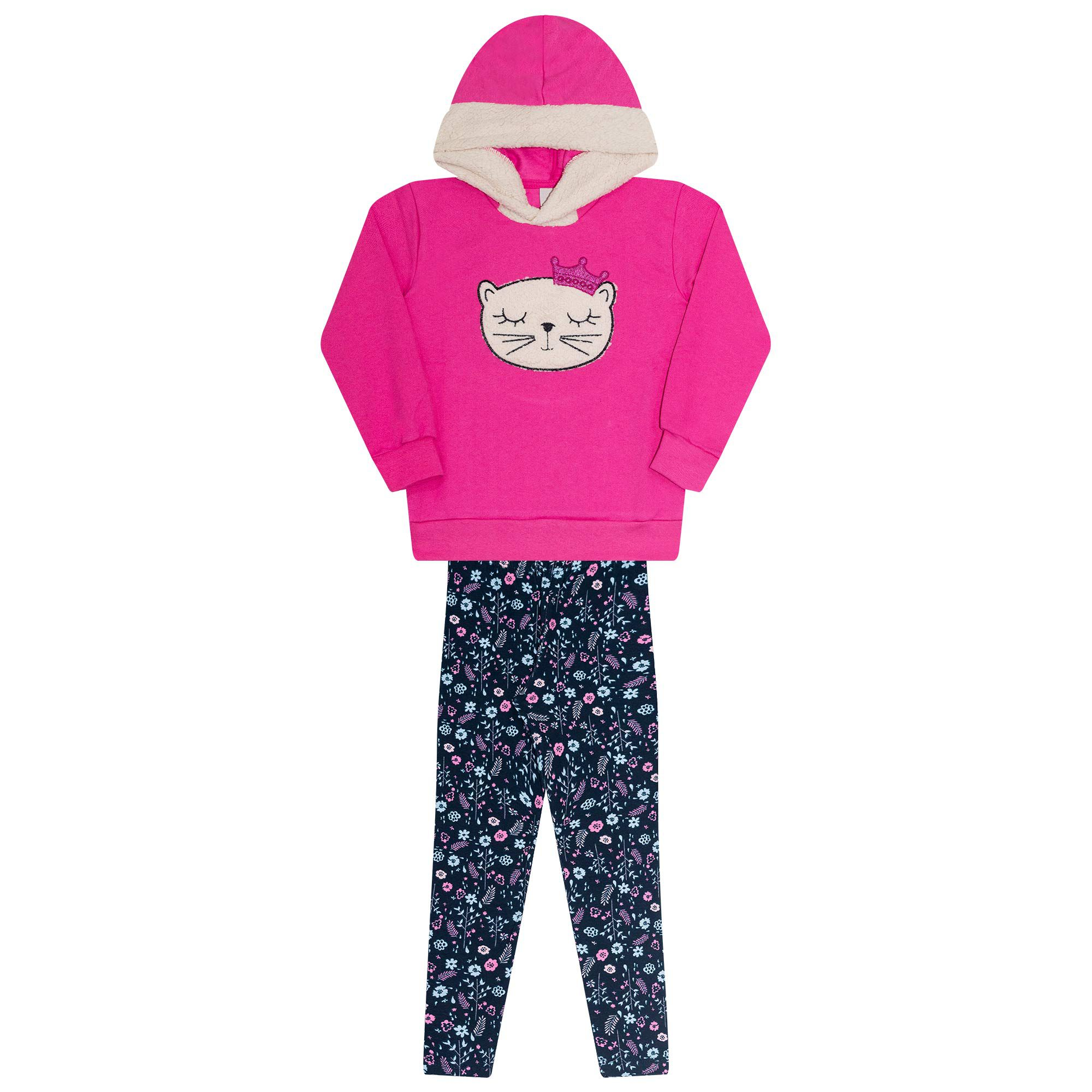 Conjunto Infantil Feminino  2 peças - Ref 30204 - Pink Alécia - Ralakids