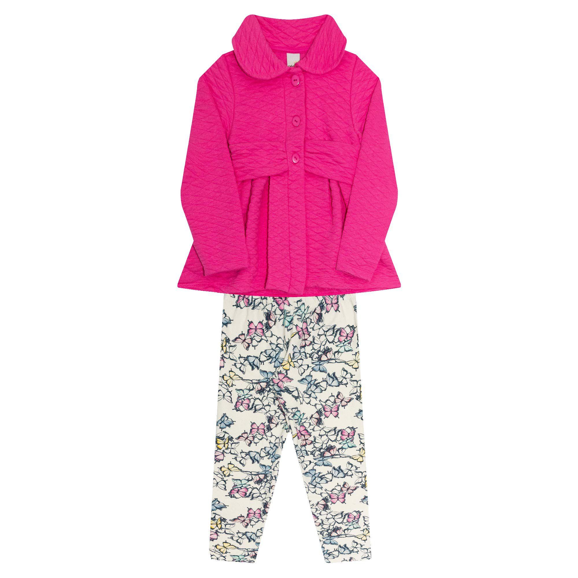 Conjunto Infantil Feminino  2 peças - Ref 30205 - Pink Alécia - Ralakids